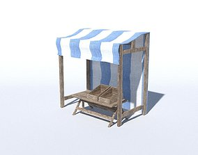 3D model Medieval Stand Low Poly
