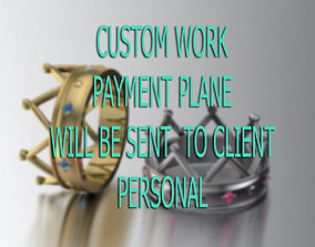 CUSTOM PAYMENT PLANE WILL BE SENT PERSONAL 3D print model