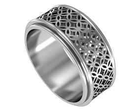 3D print model geometric classic ring