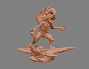 Pokemon Lycanroc Midnight - Fan Art - Figure 3D print