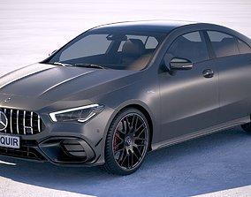 saloon 3D model Mercedes-Benz CLA45 S AMG 2020