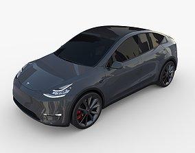 Tesla Model Y Midnight Silver 3D