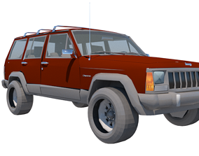 3D model Jeep xj