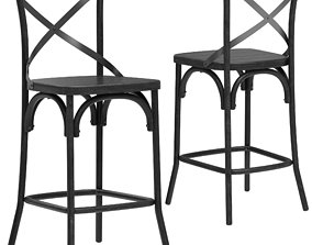 Deephouse BELLA CROSS bar stool 3D restoration