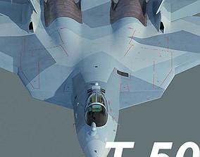 3D Russian Air Force Sukhoi T-50 PAK FA mass production 1