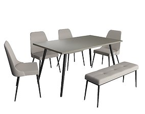 restaurant 3D model Kuryakin Dining Set