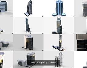 3D model Skyscraper pack