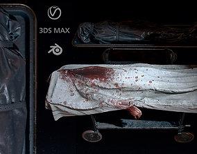 Corpses morgue Bodybags Pbr Hq 3D asset