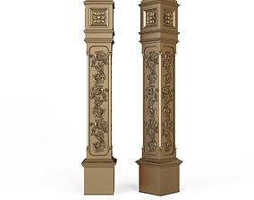 3D stair column for cnc