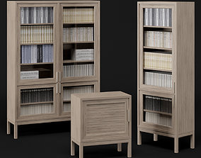 3D model Bookcase set