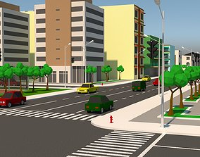 3D asset VR / AR ready Simple City