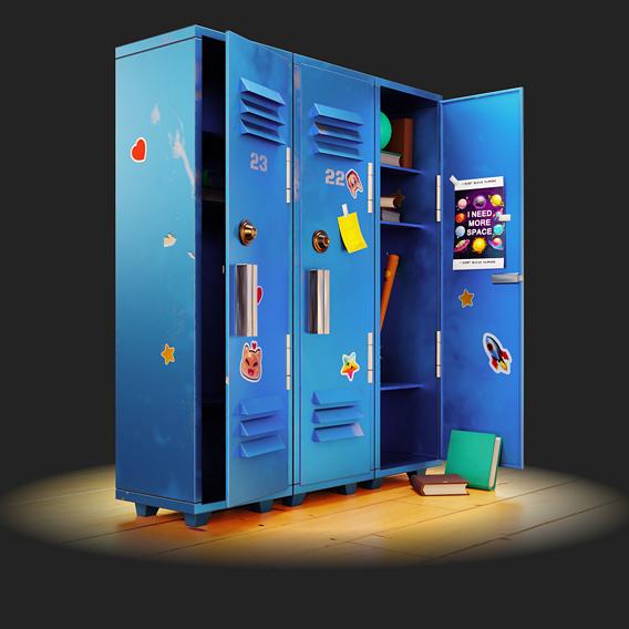 Stylized locker