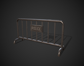 3D model Police Barricade