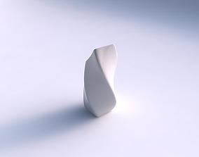 Vase twisted bent quadratic smooth 3D printable model