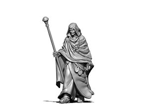 Wizard - Sorcerer - Hissar 35 mm scale - 3D print