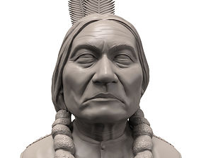 Sitting Bull 3D printable portrait sculpture human