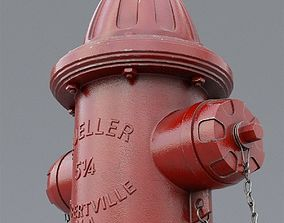 3D PBR fire hydrant architectural
