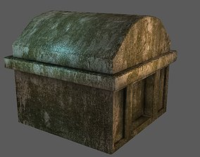 3D asset Tomb Rounded Top Low-poly Game-ready