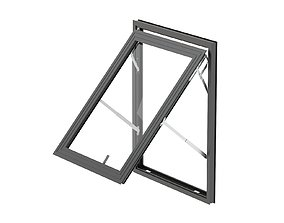 Aluminium Door 03 3D