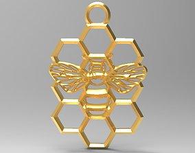 Honeycomb bee pendant 3D print model