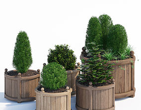 3D model Round versailles planter