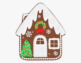 3D model Cookie house Christmas