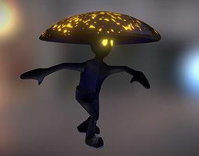 Black Mushroom 3D model