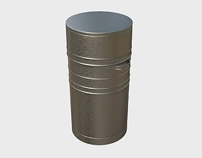 Lamp container from stainless steel 3D