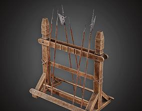 Pike Rack - MVL - PBR Game Ready 3D model