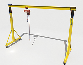 Gantry Crane 2 PBR 3D model realtime