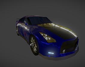 Low Poly Sport Car 3D asset