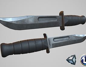 3D asset Ka-Bar knife