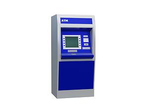ATM Cash Machine 3D asset low-poly