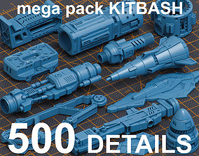 3D Mega Pack Hard Surface Kitbash 500 DETAILS
