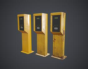 Parking Ticket Dispenser 1 3D asset