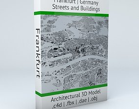 Frankfurt Streets and Buildings 3D model