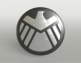 3D asset SHIELD Logo 007