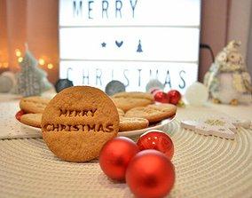 Christmas Cookie Cutter Set 4 Pieces Happy 3D print model