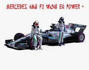 3D model Mercedes AMG F1 W08 EQ Power