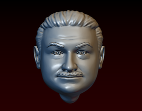 Male head 29 Man head - fat man with 3D printable model