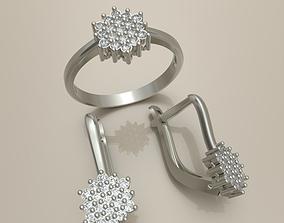3D printable model ring and earrings6
