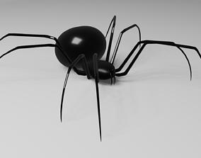Simple Black Widow Spider 3D model