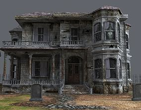 haunted house model 3D