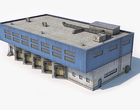 Industrial Building Dirty 3D model