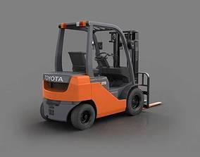 Orange Toyota Forklift 3D model