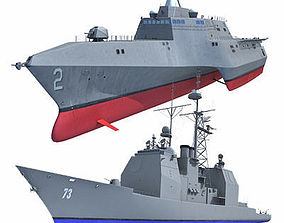 3D model Collection of US Navy Ships V3