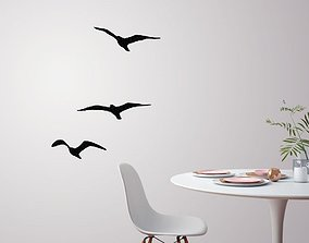Flying birds for wall decoration 3D print model