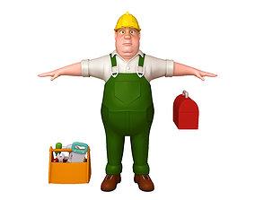 builder Worker 03 Cartoon 3D model