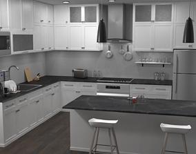 counter 3D model Modern Kitchen