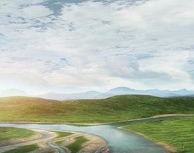 Valley landscape 002 3D model